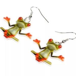 Acrylic Frog Earrings